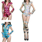 AM0 Womens Sexy Jumpsuit + Leg-sleeve Club Party Dance Wear Jazz Costume Clothes