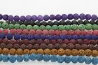 Natural Round Colorful Lava Jewelry Making loose gemstone beads strand 15""
