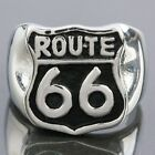 The Mother Route 66 USA Road Street of America Stainless Steel Biker Finger Ring