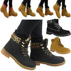 NEW WOMENS LADIES FLAT LACE UP LIGHT WEIGHT SHOES ANKLE SHOES BOOTS SIZES 3-8
