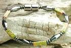 Handmade in USA Green Unakite Stones magnetic Circulation Healing bracelet