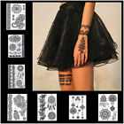 New Black Henna Lace Temporary Tattoo Metallic Tattoo Inspired Sticker Body Art