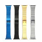 Fashion Link Bracelet Stainless Steel Band Strap For Apple Watch Butterfly Lock