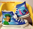Lilo and Stitch Pattern Kids Children Girl Boy Hand-painted Canvas Shoes Sneaker