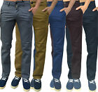Mens Designer De Zico Chinos Skinny Slim Fit Stretch Pants Trousers Bottoms All