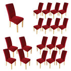 1/4/6/8pcs Stretch Short Chair Cover Dining Room Chair Protector Slipcover Wine