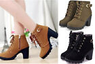 Women Girl Comfort Fashion Top Heel Ankle Boots Winter Pumps Martin Shoes