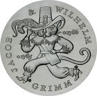 GDR 20 Mark Silver 1986 brilliant unc. Brothers Grimm, Puss in Boots in capsule