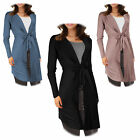 Stunning Long Sleeve Waterfall Drape Tie Up Cardigan Shrug Cover Up Top