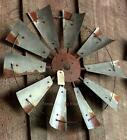 "30"" Rustic Texas Windmill Head Fan Western Ranch Barn Farmhouse Wall Decor"