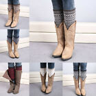 Charming Women Soft Warm Crochet Knitted Cover Boot Socks Leg Warmers Legging