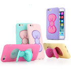 Lovely Butterfly Bow Silicone Case Cover Stand Holder For Samsung & Apple iPhone