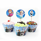 Cupcake Decoration wrappers Birthday Minions / Frozen 10 pcs Toppers