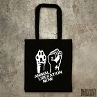 new ANIMAL LIBERATION NOW tote bag different colours protest animal rights vegan