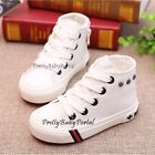 NEW Fashion Kid's BOY GIRL White Sports Casual Canvas Sneakers Shoes Boots