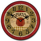 Large wall Clock, Tomato Clock 12- 48 Whisper Quiet, Non-Ticking