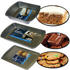 NON STICK STEEL LARGE SQUARE RECTANGLE BISCUIT BROWNIE CAKE BAKING PAN BAKE TRAY