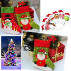 Xmas Santa Claus Snowman Applique Stockings Socks Kit Holder Candy Hat Ornaments