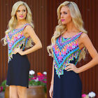 New Women Lady Sexy Casual Sleeveless Floral Evening Party Mini Dress