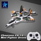 Cheerson CX-12C Mini Fighter Drone 2.4G 4CH 6-Axis Gyro LED RC Quadcopter 39AW