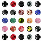 MG ZT LE500 MK1 Front & Rear Insert Badges To Fit 59mm 40mm Emblems 19 Colours