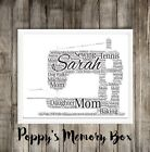 Personalised Sewing Machine Word Art Christmas Gift Mother Nan Print Poster