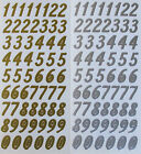 20mm (2cm) NUMBERS Style 2 PEEL OFF STICKERS 0 - 9 Number Cardmaking