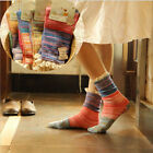 4 Pairs Contrast Color Women Retro Lace Rib Cable Knit Cotton Boot Piles Socks