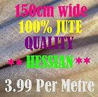 "HESSIAN 100% JUTE 10oz Craft Fabric Material - 150 cm ( 59"" ) wide - any length"