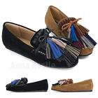 AnnaKastle New Womens Multi Fringe Faux Suede Moccasin Loafer US 5 6 7 8