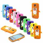 Cute Animal 3D Penguin Soft Silicone Case Cover for Samsung Galaxy S4 Mini i9190