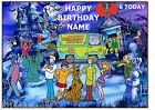 SCOOBY DOO A4 EDIBLE ICING SHEET BIRTHDAY CAKE TOPPER 11* x 8* FREE POST