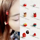 1 pcs Women Girl Cute Glove Snowman Hat Hairpin Fruit Hair Clip Ponytail Hair