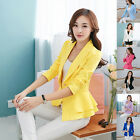 Perfect Women Fashion Casual Business Blazer One Button Slim Suit Jacket Coat H