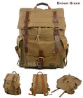 Outdoor Canvas Rucksack Camping Hiking Backpack Laptop Shoulder School Bag Large