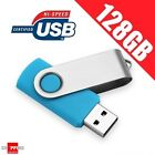 SWIVEL USB 2.0 True / Real Capacity Memory Flash Memory Drive - Blue Colour