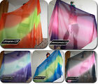POLYESTER COLORFUL BELLY DANCE VEIL 1.5M * 2.6M  + carry bag  333