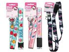 Hello Kitty LANYARD keychain ID Holder breakaway Black Faces Pink or Blue SANRIO
