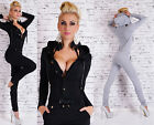 Sexy New Womens Jumpsuit Tracksuit Leisure Suit Hood Fitness Overall N 510