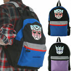 Licensed Transformers Autobots Decpeticon Pop Culture Cosplay Backpack Comic Bag