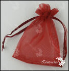 100PCS Organza Candy Bags Jewelry Pouches Decor Gift Sheer Birthday Party Favor