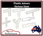 Plastic Joiner Barbed Connector Pipe Hose Tubing Fittings Air Fuel Water Norma