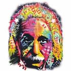 NEW ALBERT EINSTEIN NEON FACE T-Shirts Small to 5XL BLACK or WHITE