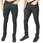 Mens Designer Zico Jeans Super Skinny Stretch Coated Leather Look Trousers Pants