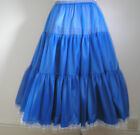 "ROYAL BLUE/PALE BLUE ROCK N ROLL/PROM REPRO 1950s VINTAGE PETTICOAT 25"" & 27"""