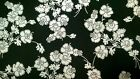 1 Half Metre Hoffman Mary May Black and Silver Floral  Print Fabric -100% cotton