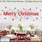 MERRY CHRISTMAS Wall Sticker Vinyl Quote Shop window SIZE UP TO 120CM LONG!!! a1