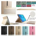 """7 Color Backlit Bluetooth Keyboard Case Cover For Samsung Galaxy Tab A 9.7"""" T550"""
