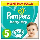 Pampers New Baby Nappies Monthly Pack Size 0 1 2 3 4 4+ 5 5+ 6  Mega Saving Box