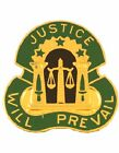 0003 Military Police Group Unit Crest (Justice Will Prevail)